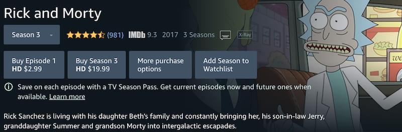 ricky and morty season buy episodes stream amazon