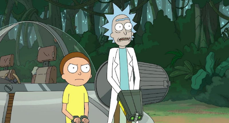 rick and morty tv show stream poster