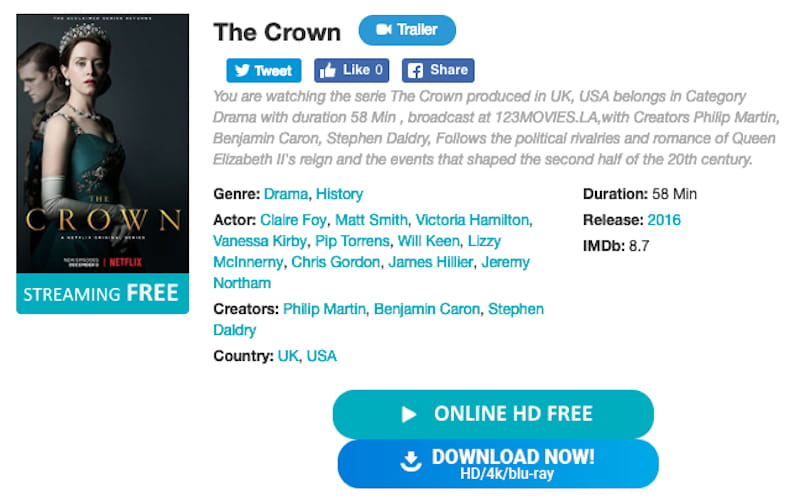 crown streaming option