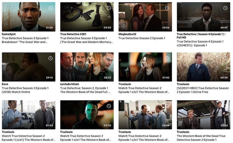 true detective daily motion search
