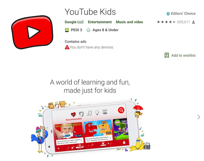 youtube kids app google parental choice