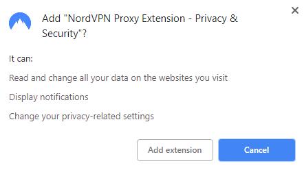 nordvpn add chrome confirmation
