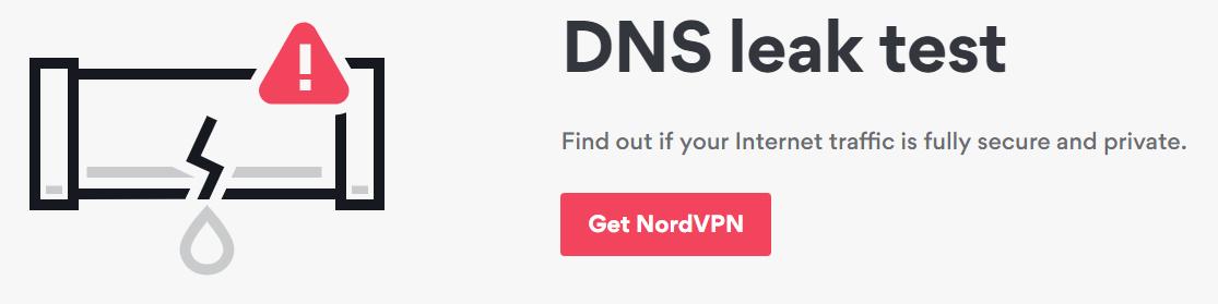 NordVPN dns leak free banner