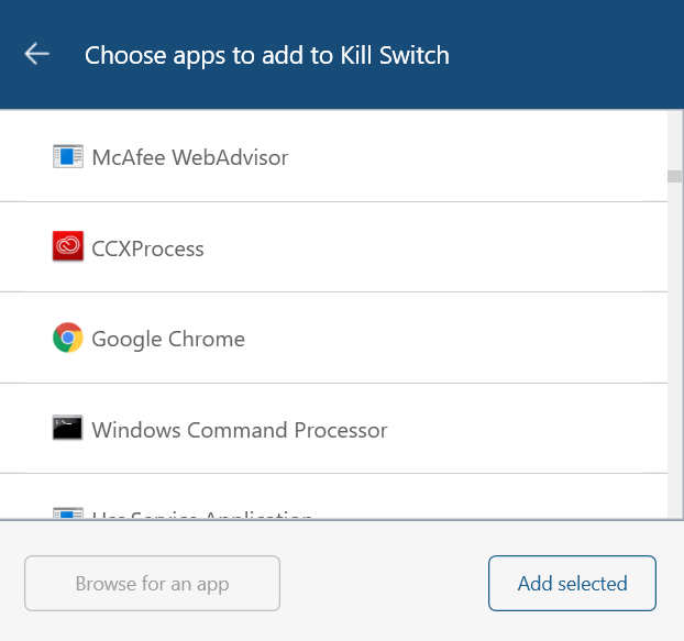nordvpn app kill switch