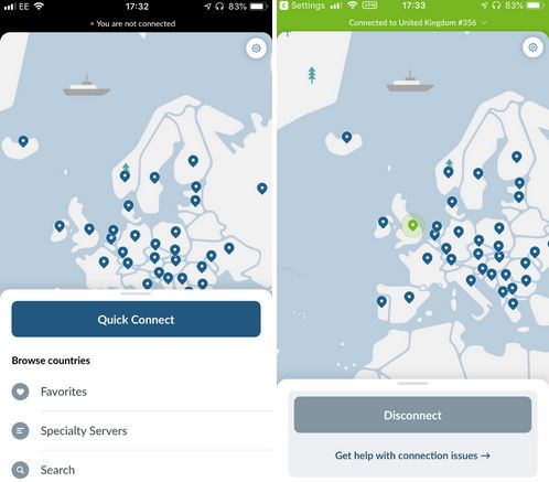 nordvpn ios connect