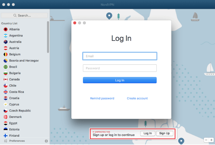 nordvpn mac client login