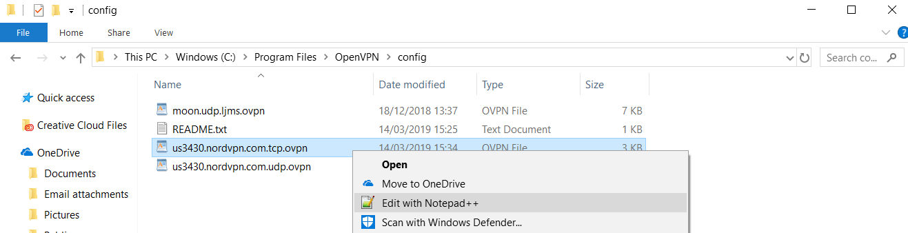 openvpn edit file