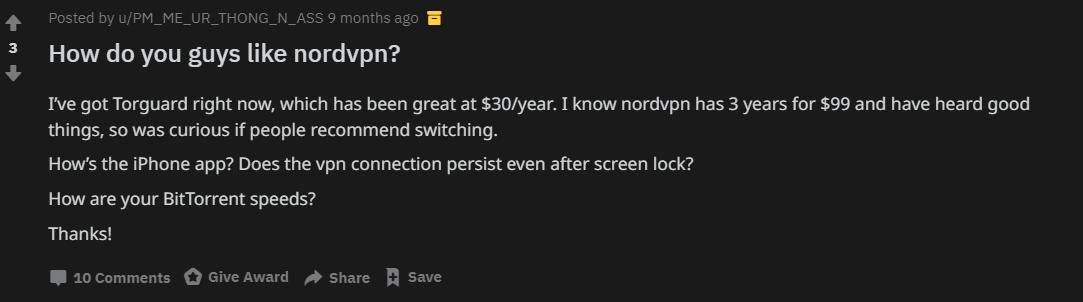 reddit torguard user