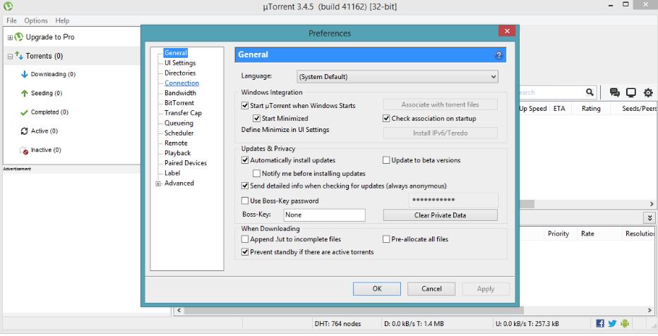 socks5 utorrent setup